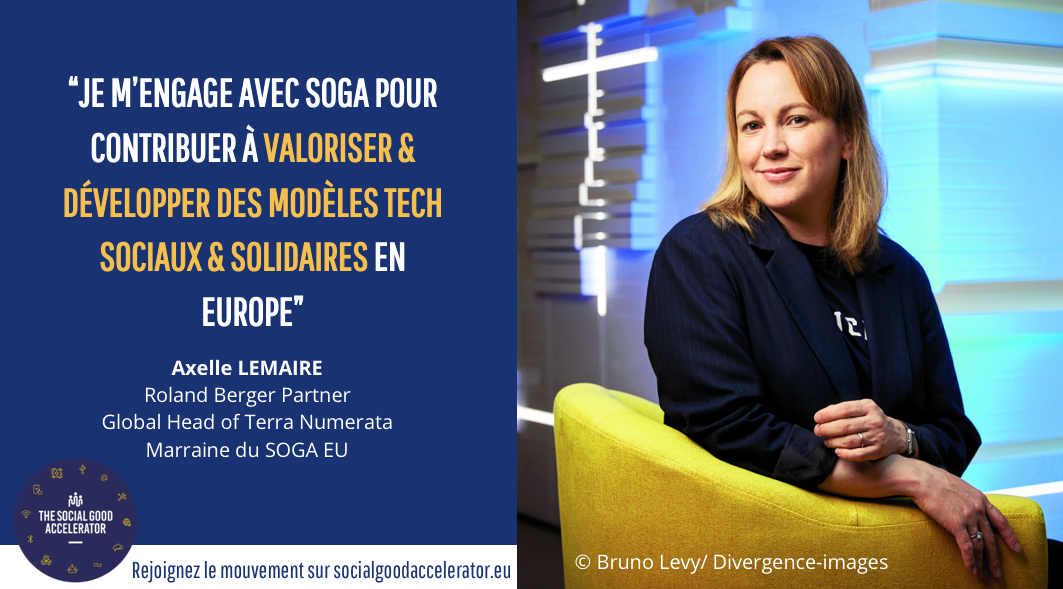 Interview de la marraine du Social good Accelerator : Axelle Lemaire